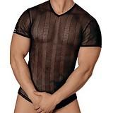 T-Shirt noir transparent