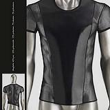 T-Shirt Transparent Vinyle et Résille