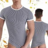 T-Shirt Homme Rayé Noir et Blanc