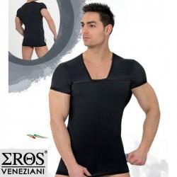 Tshirt Noir Col Carré