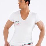 Tshirt Blanc Col en V