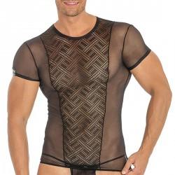 Tshirt Noir Transparent Géométrique
